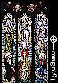 Irish Stained Glass: The Transfiguration Window from 1946, click to MAGNIFY!